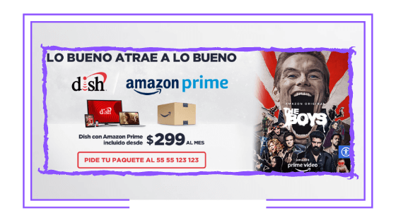 Mexico: Dish launches packages including Amazon Prime Video