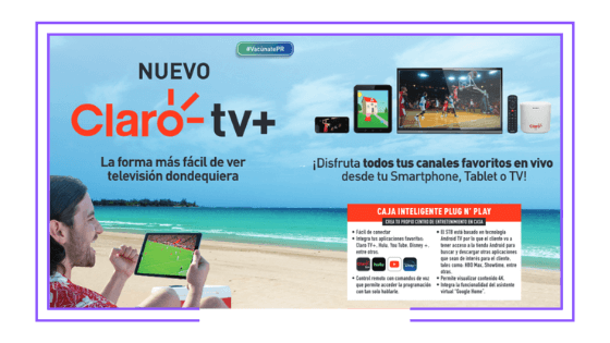 Puerto Rico: Claro launches Claro TV+: Streaming Pay TV with portable STB and mobile app